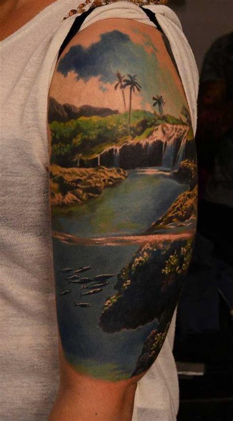 landscape tattoos 20 scenic landscape tattoos tattooblend