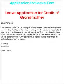 Emergency Family Leave by Leave Application For Grandmother