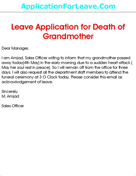 Excuse Letter Going To Airport Application Letter For 3 Days Leave