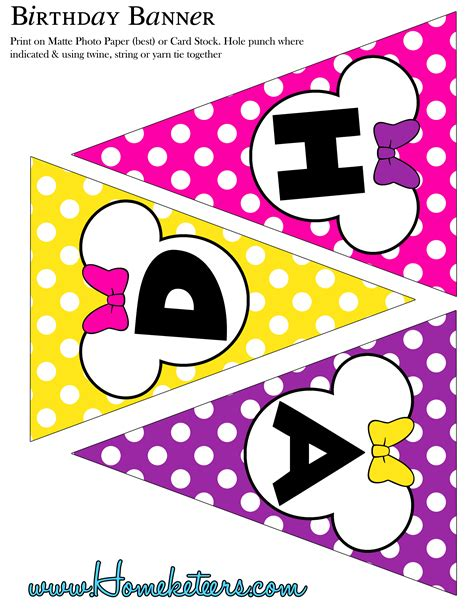 minnie mouse printable birthday decorations hot pink minnie mouse birthday party printables