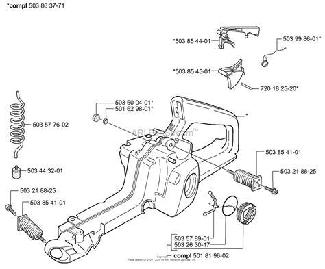 chainsaw diagram husqvarna 350 chainsaw fuel line diagram
