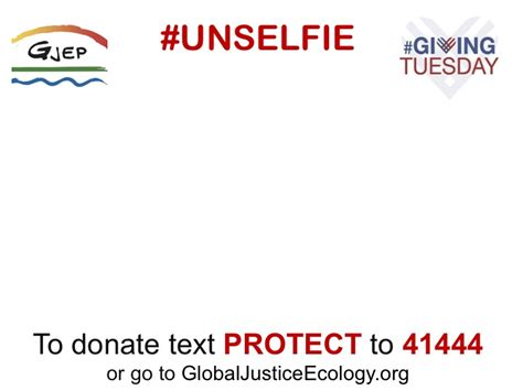 Take An Unselfie To Tell People Why You Support Gjep Unselfie Giving Tuesday Template