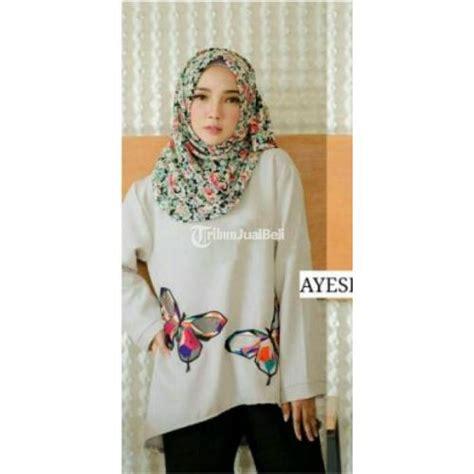 Baju Kemeja Bahan Linen Tenun baju lengan panjang butterfly blouse bahan linen rami new harga bersahabat dijual