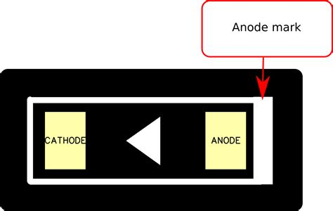 diode anode cathode marking the footprint files diodes macrofab
