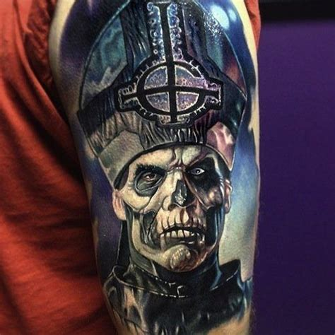 ghost bc tattoo papa emeritus ii from the band ghost b c best