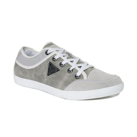 guess sneakers guess jenson sneakers in white for lyst