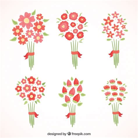 different reds different red flowers in minimalist style vector free