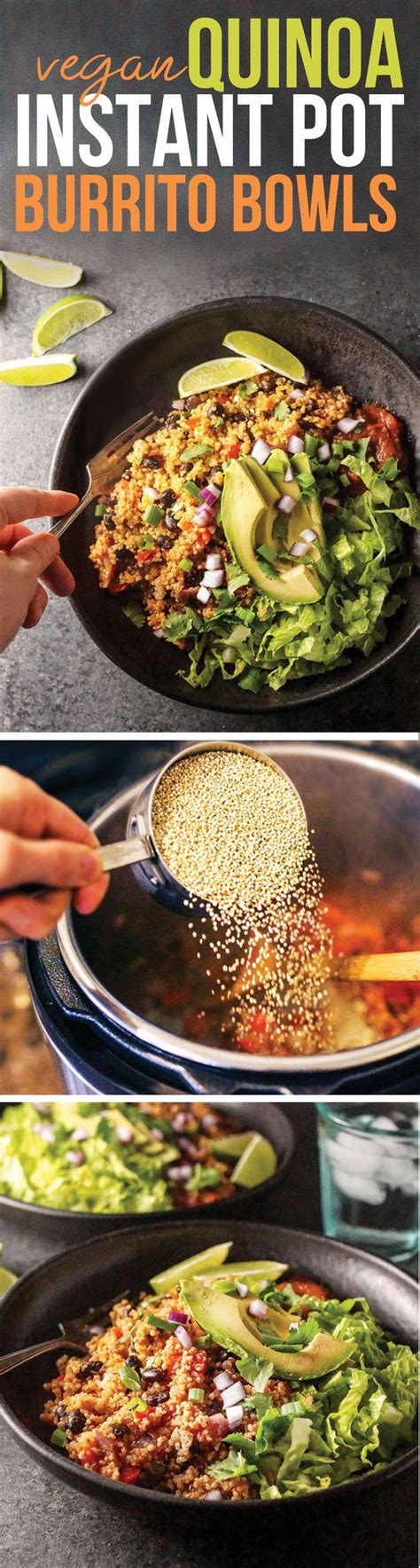 instant pot vegan cookbook the easy plant based electric pressure cooker recipes instant pot resipes books these vegan quinoa burrito bowls are made in the instant