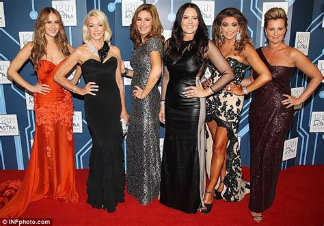 andrea moss of the real housewives of melbourne arena lisa vanderpump lends support to gina liano amid real