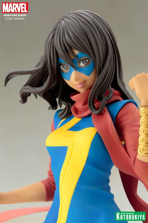 Kotobukiya Mk221 Ms Marvel Kamala Khan kotobukiya ms marvel bishoujo statue up for order kamala khan marvel news