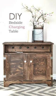 bedside table with charging station absurd stations easy how to paint furniture vintage gray brown stain on pine