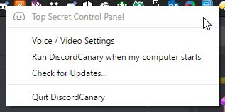 discord top secret control panel what s that top secret control panel discordapp
