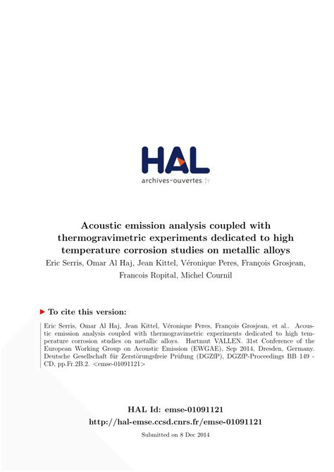 high temperature after c section thermogravimetric experiments coupled with acoustic