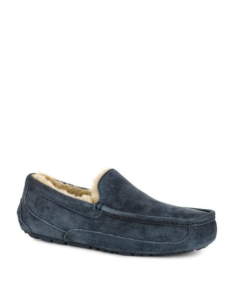 ugg ascot suede slippers ugg ascot indoor outdoor suede slippers in blue for
