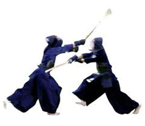 Kendo Stance With Shinai Cutting Sticker kendo strength with the sword my fitness tunes