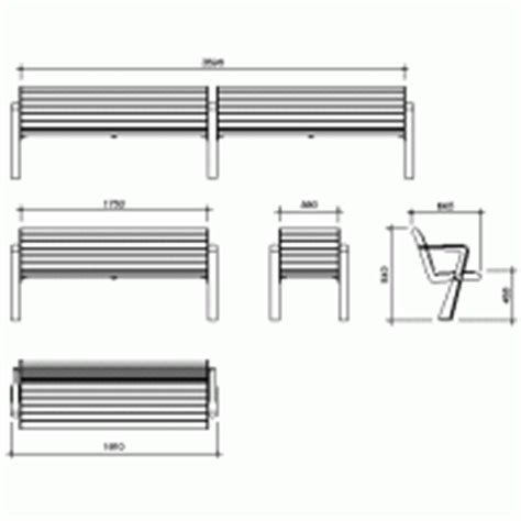 bench cad block street furniture in dwg max cad com
