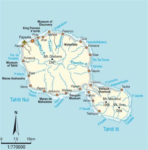 map of tahiti tahiti map hawaii and tahiti