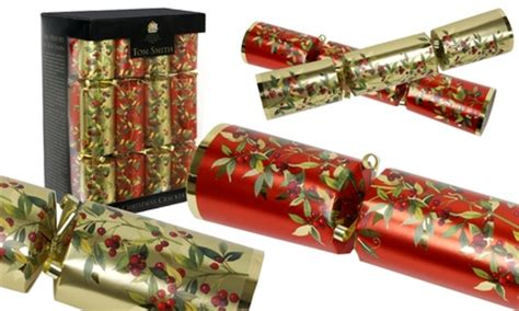 christmas crackers strip tom smith crackers groupon goods
