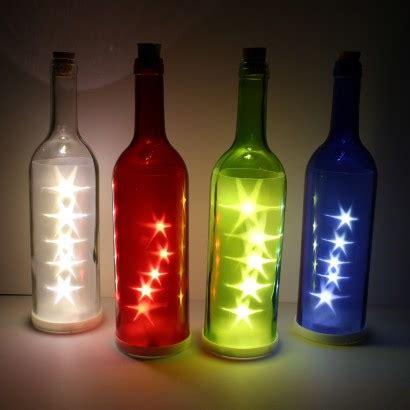 led glass bottle star lights