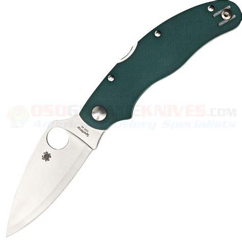 spyderco 3 inch blade spyderco caly 3 sprint run folding knife green g10 3 inch