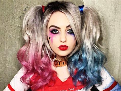 harley quinn halloween makeup ideas ikifashion