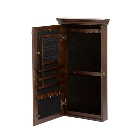 jewelry armoire espresso roma wall mount jewelry armoire espresso american box