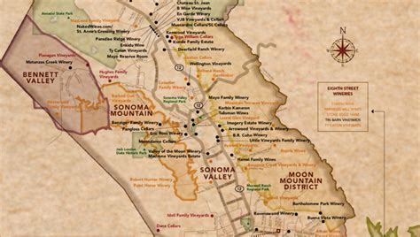 sonoma valley map sonoma valley vintners growers 187 winemaking on the moon