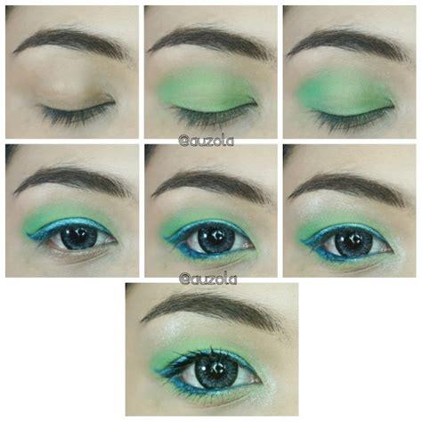 Eyeshadow Wardah Hijau makeup tutorial untuk tilan summer 2016 yang lebih fresh kawaii japan