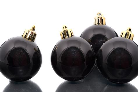 photo of black christmas ball background free christmas
