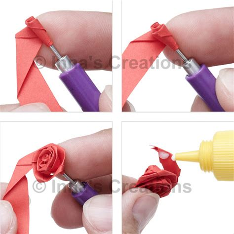 How To Fold Paper Roses - inna s creations how to fold a quilling