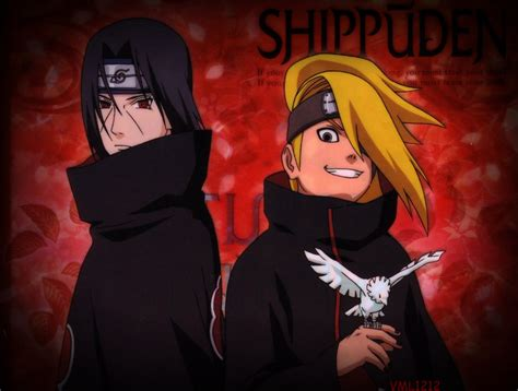 imagenes de itachi emo itachi and deidara wallpaper by vml1212 by