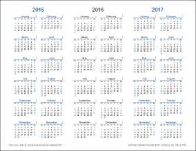 Two Year Calendar Template by 3 Year Calendar Template For Excel
