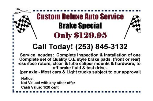 oil change coupons federal way wa