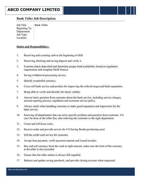cashier description responsibilities skills and html autos weblog