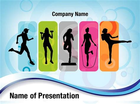 Fitness Powerpoint Templates fitness silhouettes powerpoint templates fitness