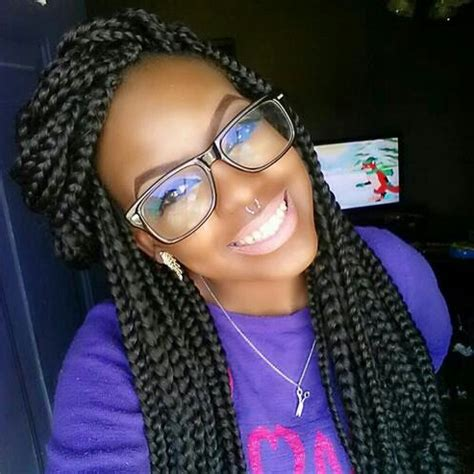 different styles for box braids box braids hairstyles can be done on natural hair or