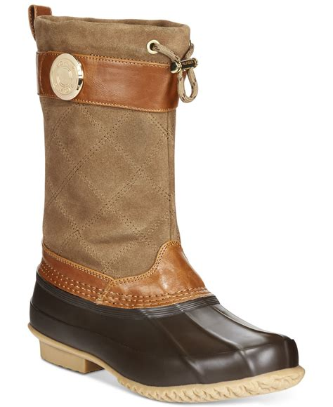 womans duck boots hilfiger s arcadia duck boots in brown otter