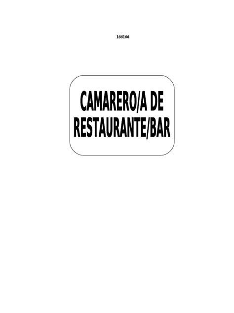 Manual Camarero de Restaurante Bar | Hotel | Camareros