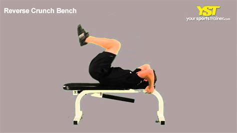 crunches on bench reverse crunch bench exercise youtube