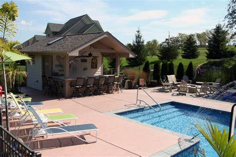 pool houses with bars pool house home bar milwaukee by swimming pool services