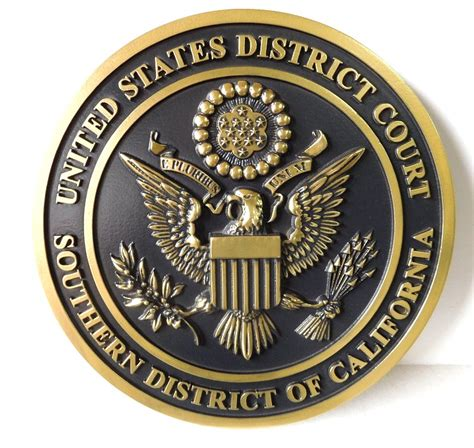 Us District Court Southern District Of California Search Federal Government Seals Carved Wood Wall Plaques