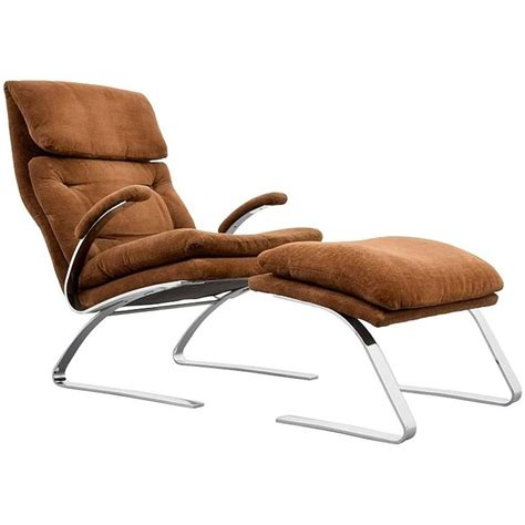 milo chair milo baughman for thayer coggin chrome lounge chair and ottoman usa 1972 at 1stdibs