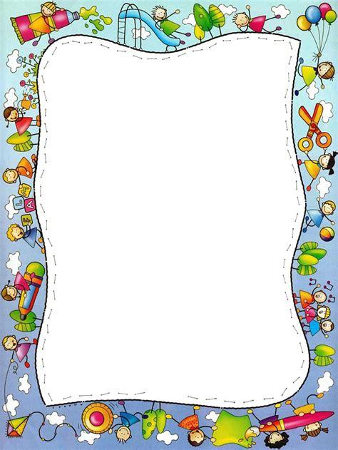 imagenes de marcos para utiles escolares rayito de colores marcos escolares infantiles