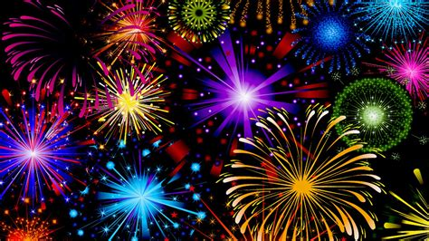 celebration fireworks  red blue yellow  green color