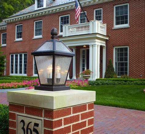 outdoor column mount lighting lantern column mount traditional post lights