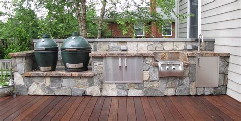 outdoor kitchen with green egg outdoor kitchens alexandria va j j landscape