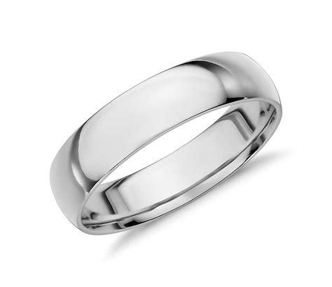 white gold comfort fit wedding band mid weight comfort fit wedding band in 14k white gold 5mm