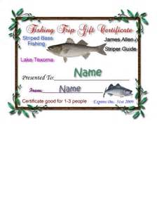 Fishing Gift Certificate Template by Gift Certificates