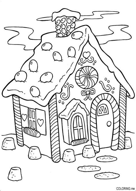christmas cake coloring pages coloring page christmas cake house coloring me