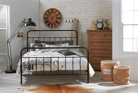 Designer Jessica double size black metal bed frame